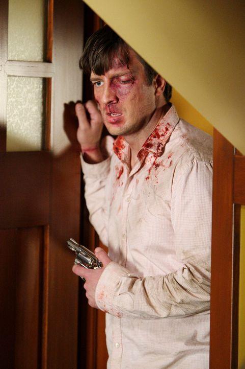 Wayne hat Adam (Nathan Fillion) übel zugerichtet und nun ist er auf dem Weg zu Katherine. Wird Adam seine Frau noch rechtzeitig warnen können? - Bildquelle: ABC Studios