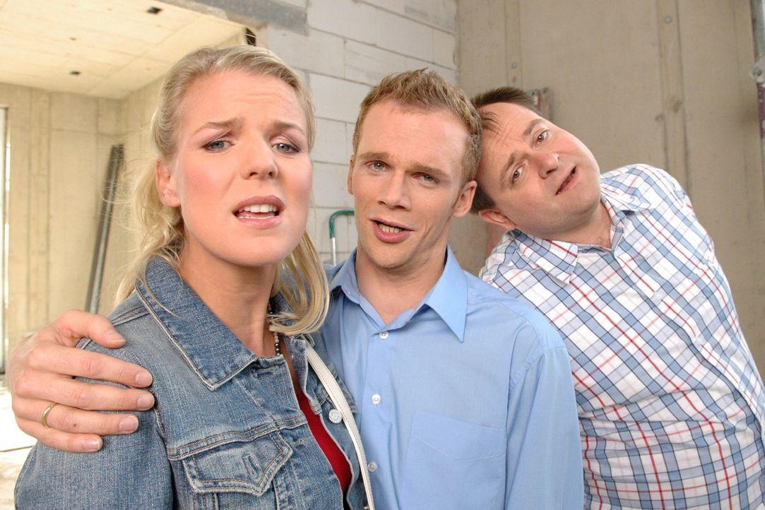 """Spaß garantiert mit den """"Dreisten Drei"""": v.l.n.r.: Mirja Boes, Ralf Schmitz und Markus Majowski - Bildquelle: Sat.1"""