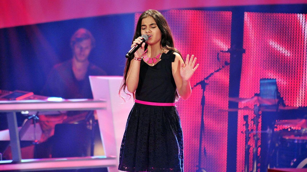 The-Voice-Kids-Stf02-Epi05-Melissa-4-SAT1-Andre-Kowalski - Bildquelle: SAT.1/Andre Kowalski