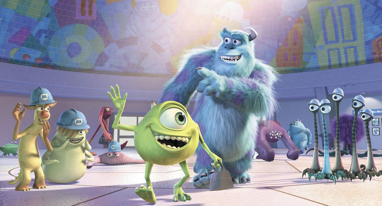 Mike Wazowski  (vorne l.) und James P. Sullivan (vorne r.) gehören eindeutig zu den beliebtesten Monstern der gesamten Firma ... - Bildquelle: Buena Vista Pictures