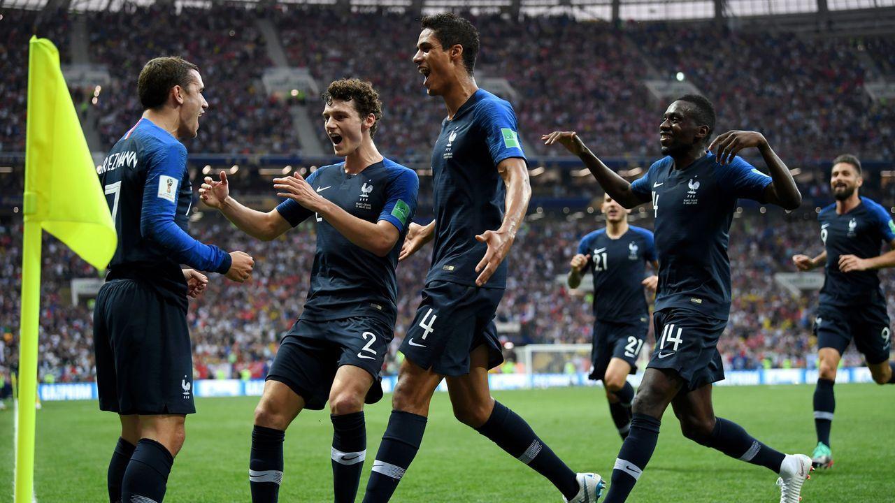 Frankreich feiert das 1:0 - Bildquelle: 2018 Getty Images