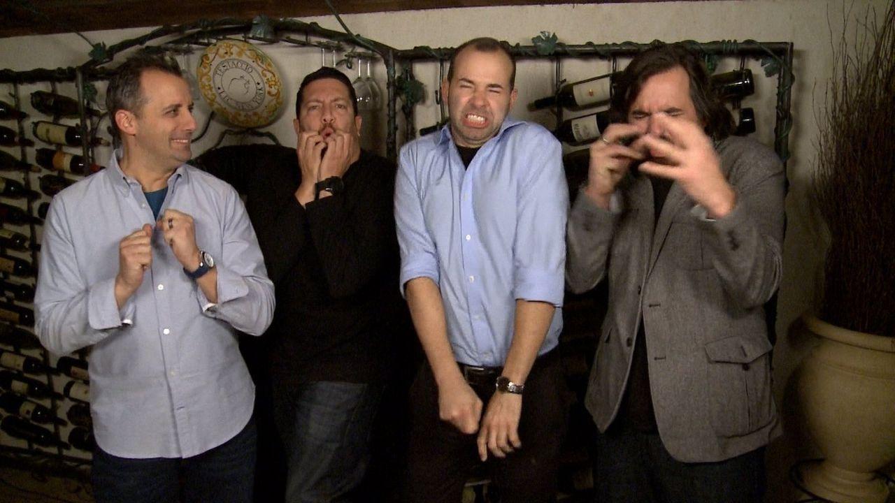 Kleine Ausraster lassen sich bei (v.l.n.r.) Joe, Sal, James und Brian nicht immer vermeiden ... - Bildquelle: 2014 Warner Bros.