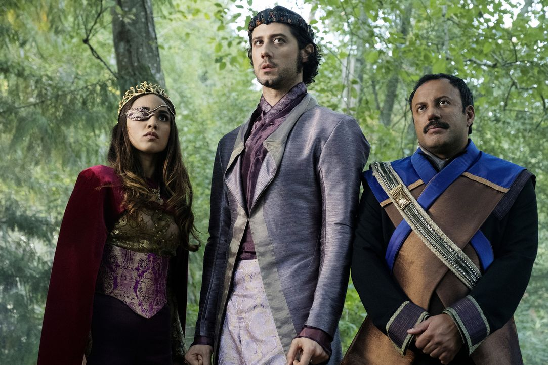 (v.l.n.r.) Margo (Summer Bishil); Eliot (Hale Appleman); Tick (Rizwan Manji) - Bildquelle: Eric Milner 2018 Syfy Media Productions LLC. ALL RIGHTS RESERVED./Eric Milner