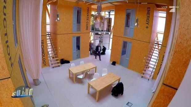 galileo video skurriles experiment ist cubity das wohnen der zukunft prosieben. Black Bedroom Furniture Sets. Home Design Ideas