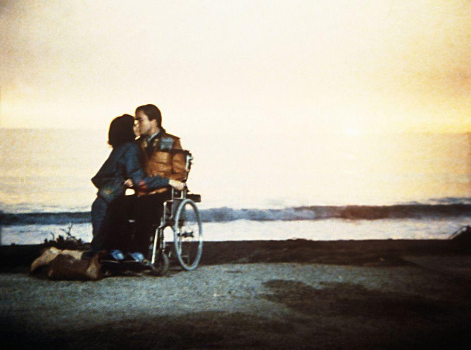 Am Strand gestehen sich Diane (Margie Impert, l.) und Scottie (James Troesh, r.) ihre Liebe ... - Bildquelle: Worldvision Enterprises, Inc.