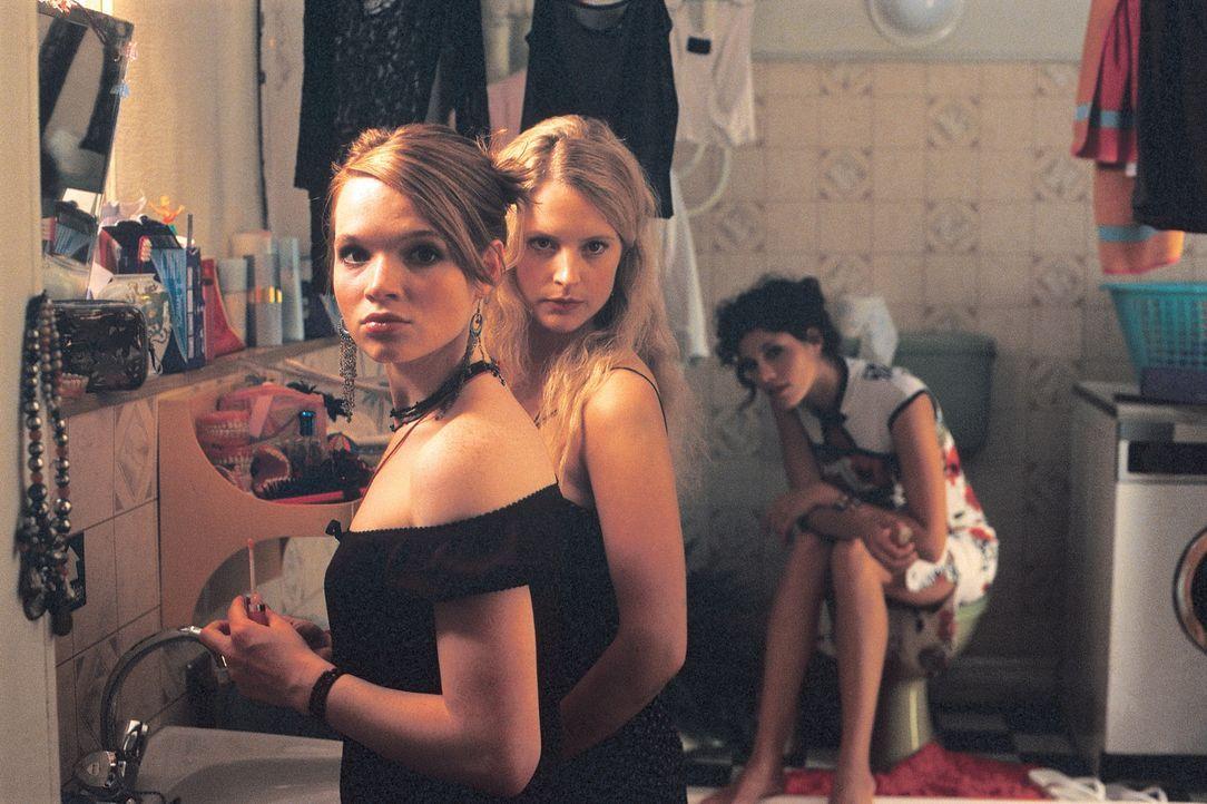 Auf der Suche nach dem perfekten Freund und Lover: Inken (Diana Ampft, M.), Lena (Karoline Herfurth, l.) und Lucy (Jasmin Gerat, r.) ... - Bildquelle: Constantin