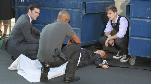 Ermitteln in einem neuen Fall: Hotch (Thomas Gibson, l.), Reid (Matthew Gray...