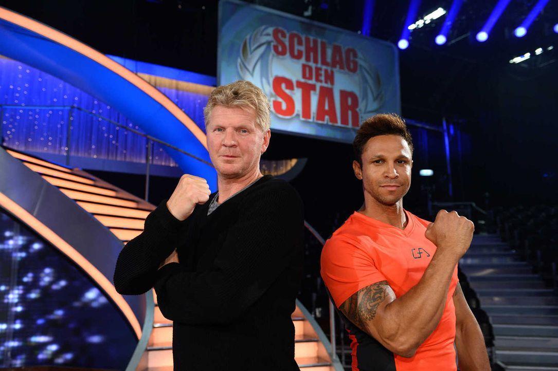 """Treten bei """"Schlag den Star"""" gegeneinander an: Daniel Aminati (r.) und Stefan Effenberg (l.) ... - Bildquelle: Willi Weber ProSieben"""