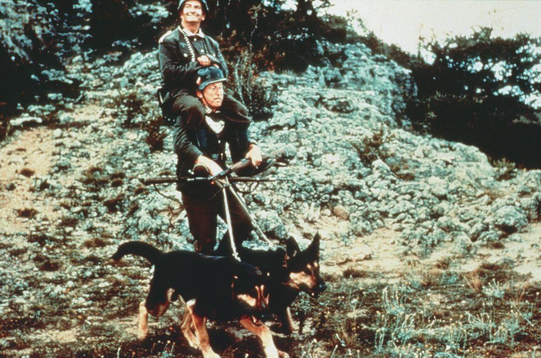 Stanislas Lefort (Louis de Funès, oben) und Augustin Bouvet (André Bourvil, unten) haben ihre eigene Methode der Fortbewegung ... - Bildquelle: Tobis Filmkunst