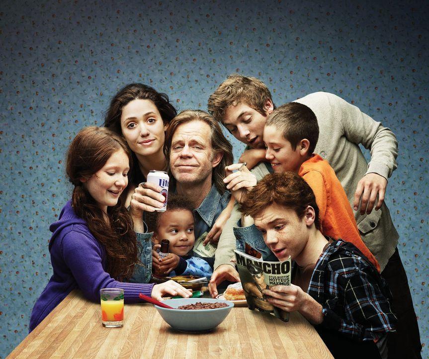 (1. Staffel) - Frank (William H. Macy, M.) ist alleinerziehender Familienvater von seinen mehr oder weniger selbstständigen Kindern Fiona (Emmy Ross... - Bildquelle: 2010 Warner Brothers