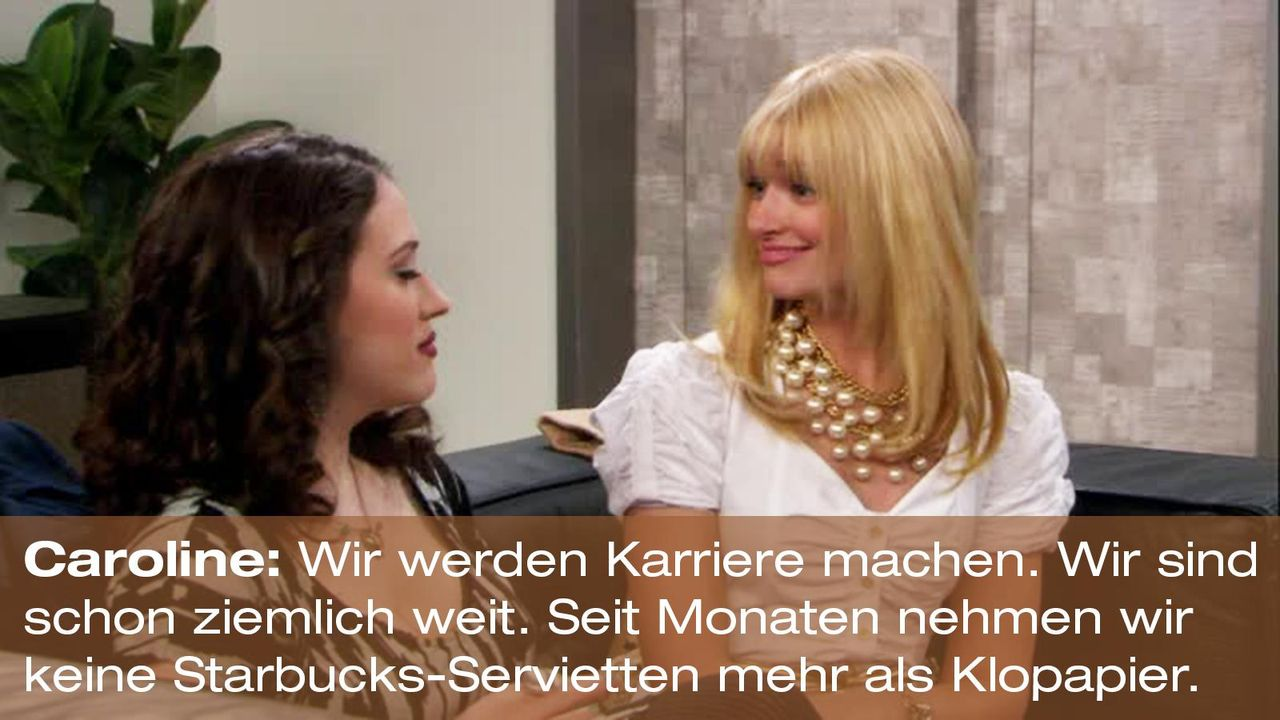 2-broke-girls-zitat-staffel1-episode-23-ballkoeniginnen-teil-1-caroline-klopapier-warnerpng 1600 x 900 - Bildquelle: Warner Brothers Entertainment Inc.