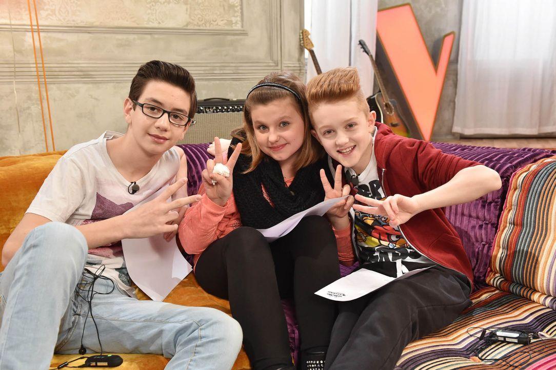 The-Voice-Kids-Stf03-Epi05-12-Samuel-Loredana-Lucas-S-SAT1-Andre-Kowalski - Bildquelle: SAT.1/ Andre Kowalski