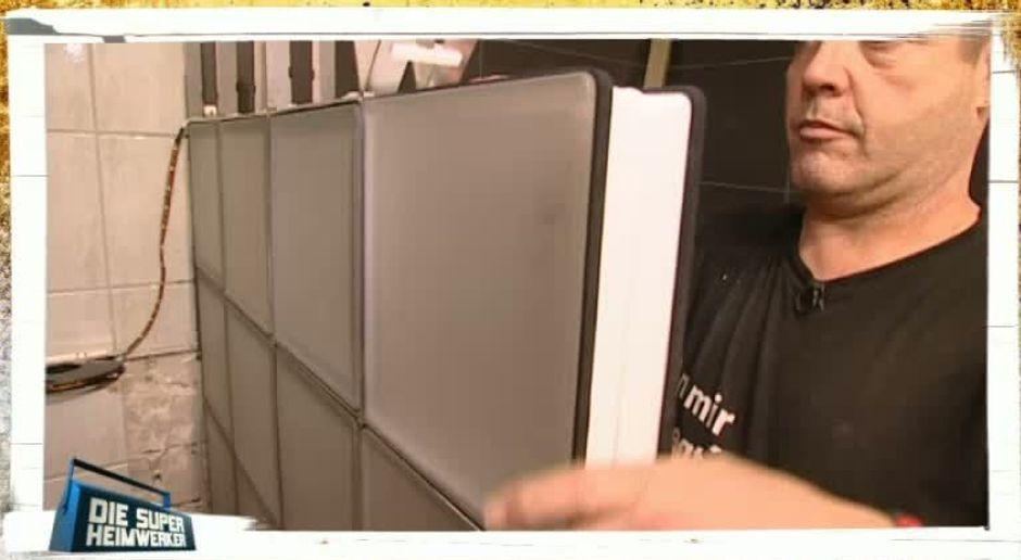 die super heimwerker video profi tipps wand aus glasbausteinen kabeleins - Dusche Mauern Glasbausteine