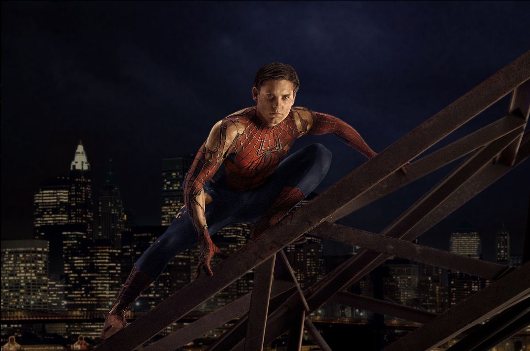 Der College-Student Peter Parker (Tobey Maguire) hat alle Hände voll zu tun, um sein Privatleben mit seiner geheimen Identität als Superheld in Eink... - Bildquelle: Sony Pictures Television International. All Rights Reserved.