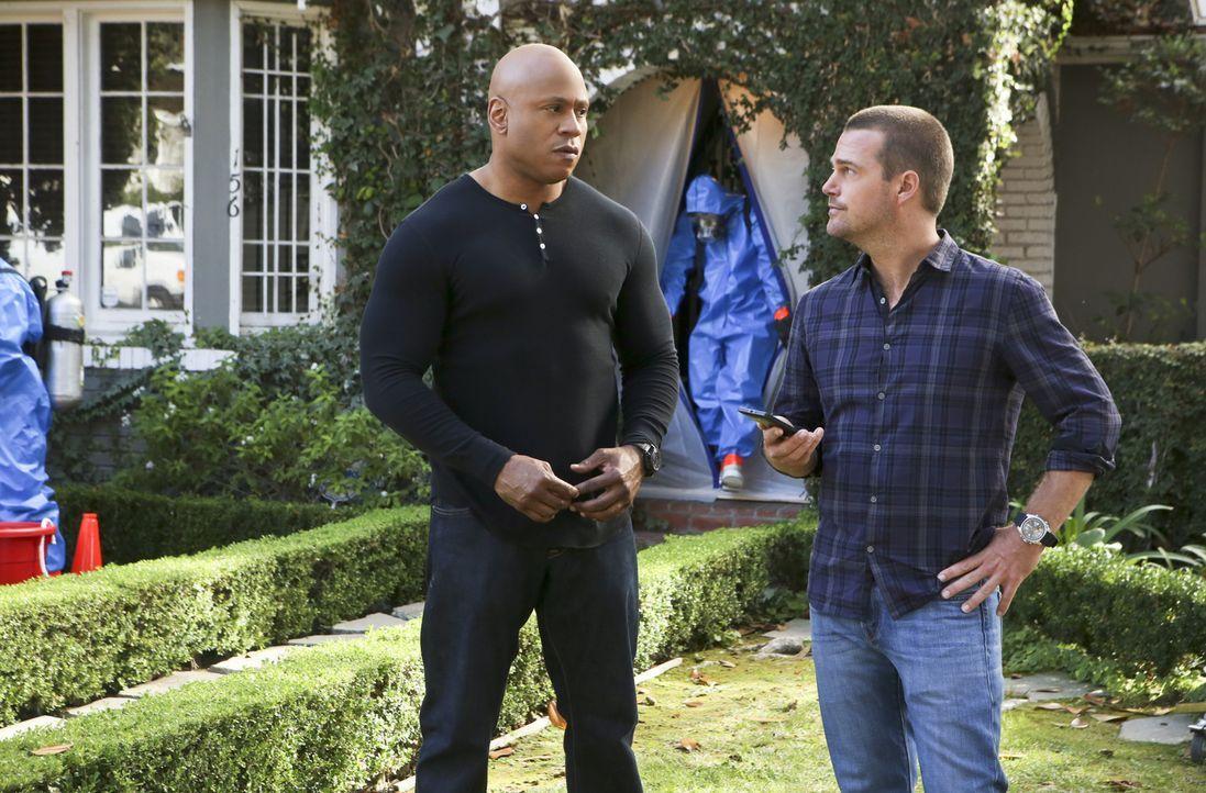 Stehen vor einem Rätsel, als sich herausstellt, dass Granger vergiftet wurde und gerade noch dem Tod von der Schippe gesprungen ist: Callen (Chris O... - Bildquelle: CBS Studios Inc. All Rights Reserved.