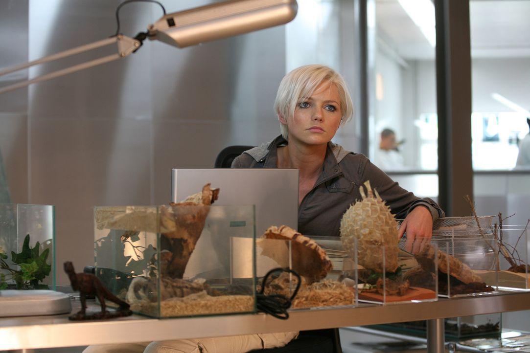 Zoologin Abby (Hannah Spearritt) versucht Informationen über Raptors zu finden ... - Bildquelle: ITV Plc