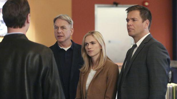 Als ein Soldat ermordet wird, müssen Gibbs (Mark Harmon, 2.v.l.), McGee (Sean...