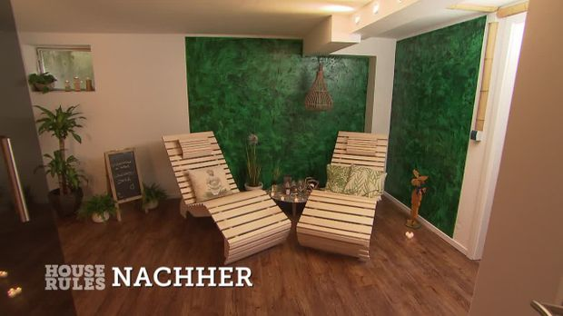 house rules das renovierungsduell video vorher nachher keller sat 1. Black Bedroom Furniture Sets. Home Design Ideas