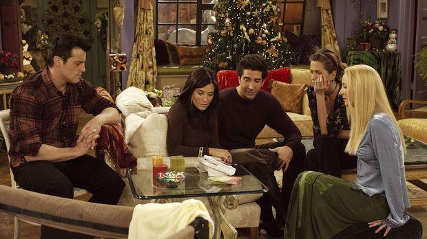 Ein trauriges Weihnachtsfest droht, denn die Freunde Rachel (Jennifer Aniston...