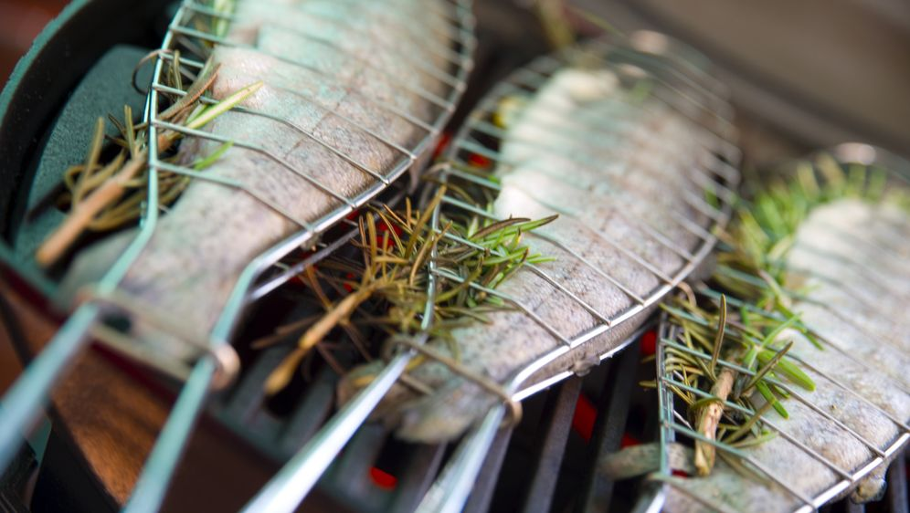 Weber Holzkohlegrill Forelle : Forelle in alufolie grillen u rezept