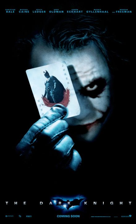 THE DARK KNIGHT - Plakatmotiv - mit Heath Ledger als Joker - Bildquelle: Warner Bros.