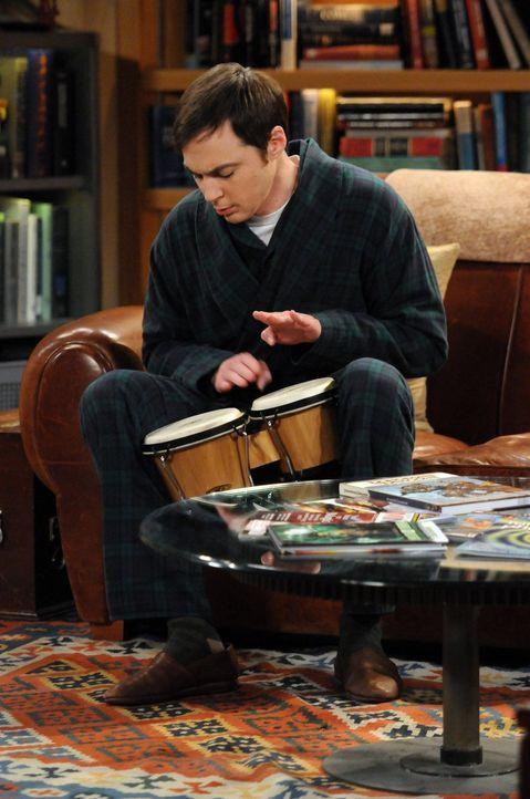 Als sich Sheldon (Jim Parsons) planmäßig die Haare schneiden lassen will, erfährt er zu seinem Entsetzen, dass Mr. D'Onofirio, sein Friseur, im Kran... - Bildquelle: Warner Bros. Television