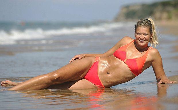Beachvolleyballerinnen Nackt