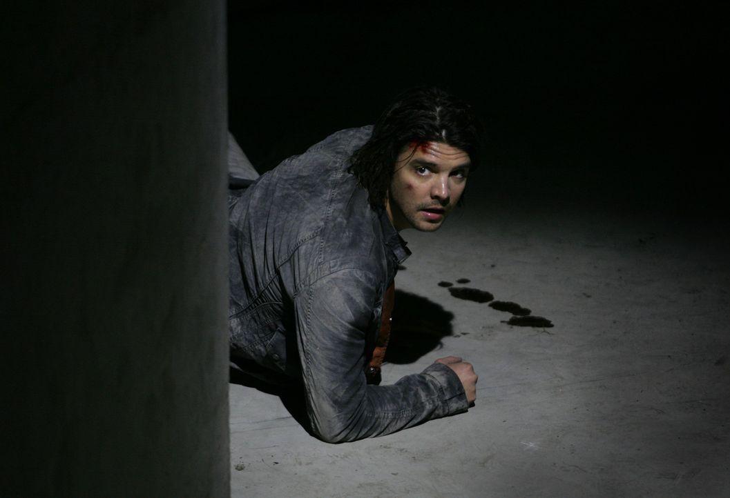 Wird bei einem Einsatz von einem gigantischen Insekt in dessen unterirdischen Tunnel gezerrt: Connor (Andrew Lee Potts) ... - Bildquelle: ITV Plc