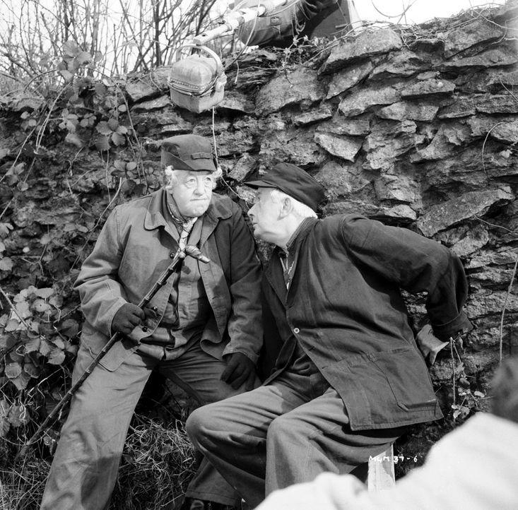 Nach langen Jahren der Zusammenarbeit haben Miss Marple (Margaret Rutherford, l.) und ihr treuer Freund und Partner in Crime Jim Stringer (Stringer... - Bildquelle: Warner Brothers