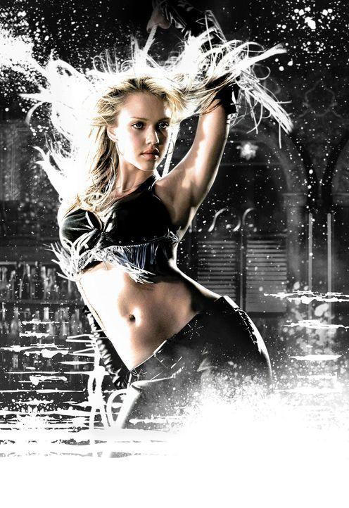 Die liebenswerte, wunderschöne Stripperin Nancy (Jessica Alba) gerät in die Fänge des Triebtäters Yellow Bastard. Verzweifelt versucht der alter... - Bildquelle: Dimension Films