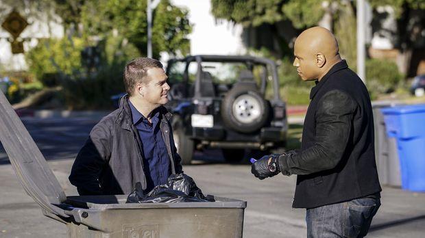 Beim Versuch den Maulwurf im Team zu fassen, werden Callen (Chris O'Donnell,...