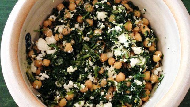 Kichererbsen-Spinat-Salat-o
