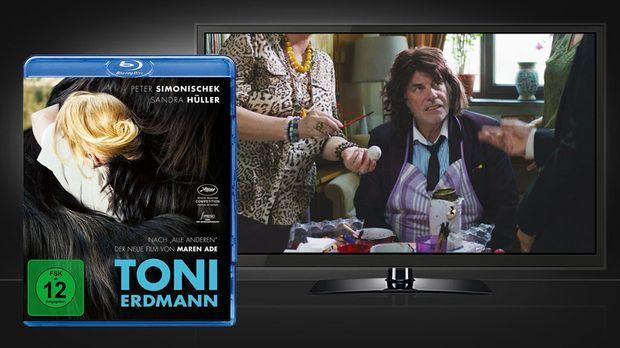 Toni Erdmann Blu-ray Disc Cover und Szene © EuroVideo