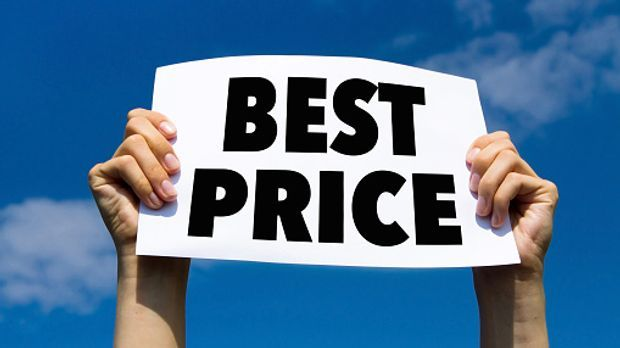 "Schild mit ""best price"""