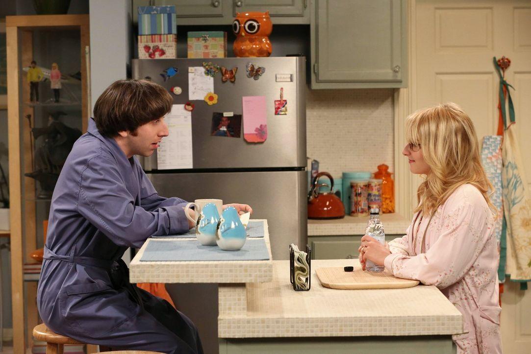Während Howard (Simon Helberg, l.) Schwierigkeiten hat sich zu entscheiden, ob er einen Brief von seinem Vater lesen möchte, will Bernadette (Meliss... - Bildquelle: Warner Bros. Television