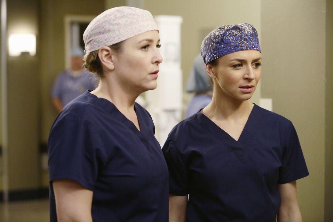 Neue Herausforderungen warten auf Amelia (Caterina Scorsone, r.) und Arizona (Jessica Capshaw, l.) ... - Bildquelle: ABC Studios