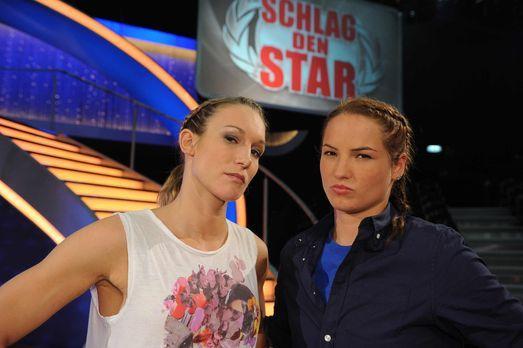 """Schlag den Star - Kickboxerin Dr. Christine Theiss (l.) stellt sich in """"..."""