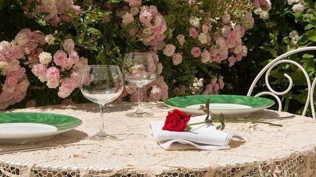 Sommertisch-Rose