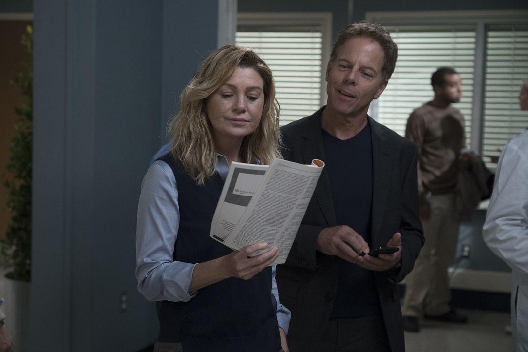 Dr. Meredith Grey (Ellen Pompeo, l.); Dr. Thomas Koracik (Greg Germann, r.) - Bildquelle: Eric McCandless ABC Studios/Eric McCandless