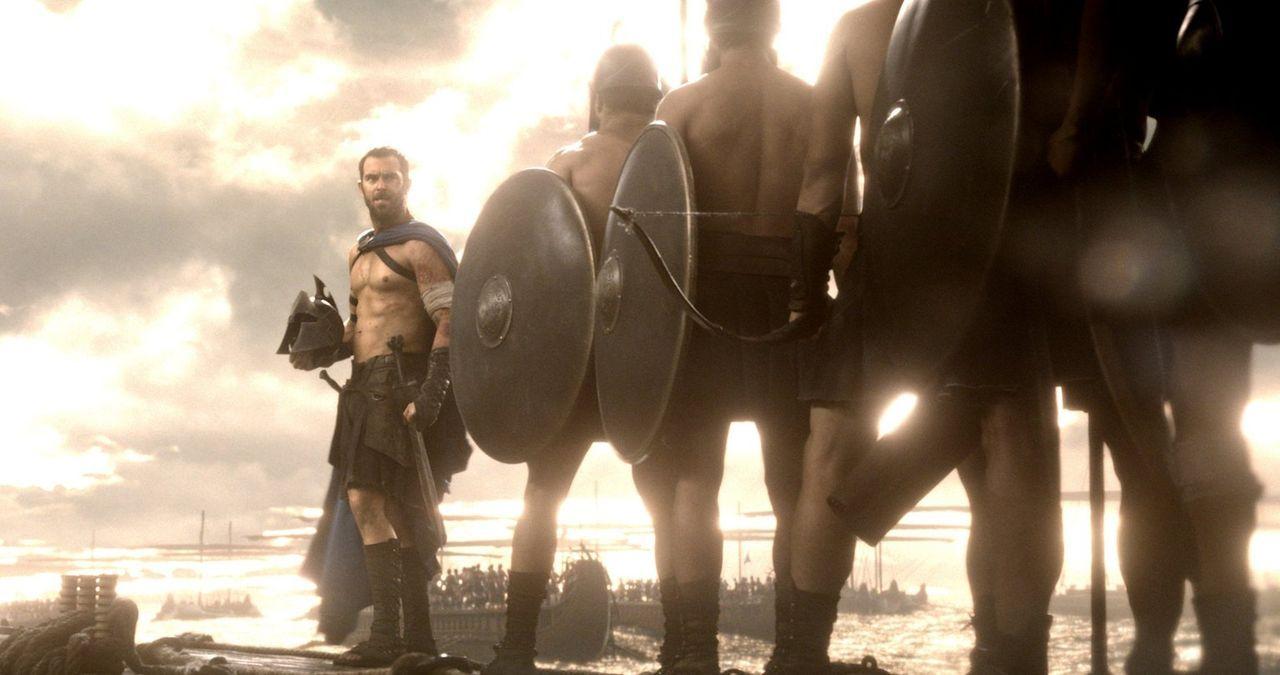 Er führt das Heer der Griechen - 50 Flotten und Tausende von Männern - in den Kampf gegen die feindlichen Perser: der tapfere General Themistokles (... - Bildquelle: 2014 Warner Bros. Entertainment, Inc.