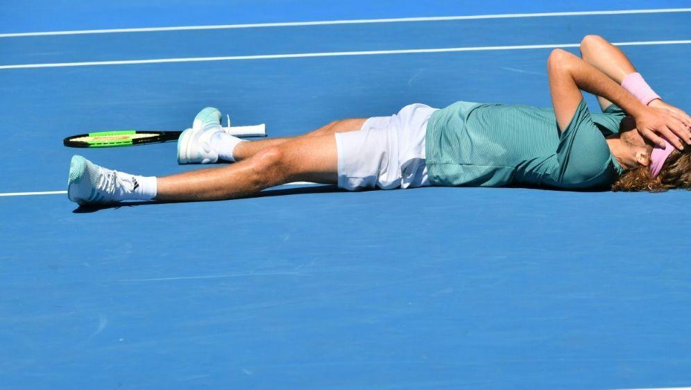 Tsitsipas nach seinem Einzug ins Halbfinale - Bildquelle: AFPSIDPaul Crock