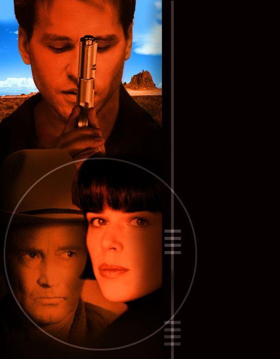 Blind Horizon mit Val Kilmer (hinten), Sam Shepard (l.) und Neve Campbell, r. ... - Bildquelle: Nu Image