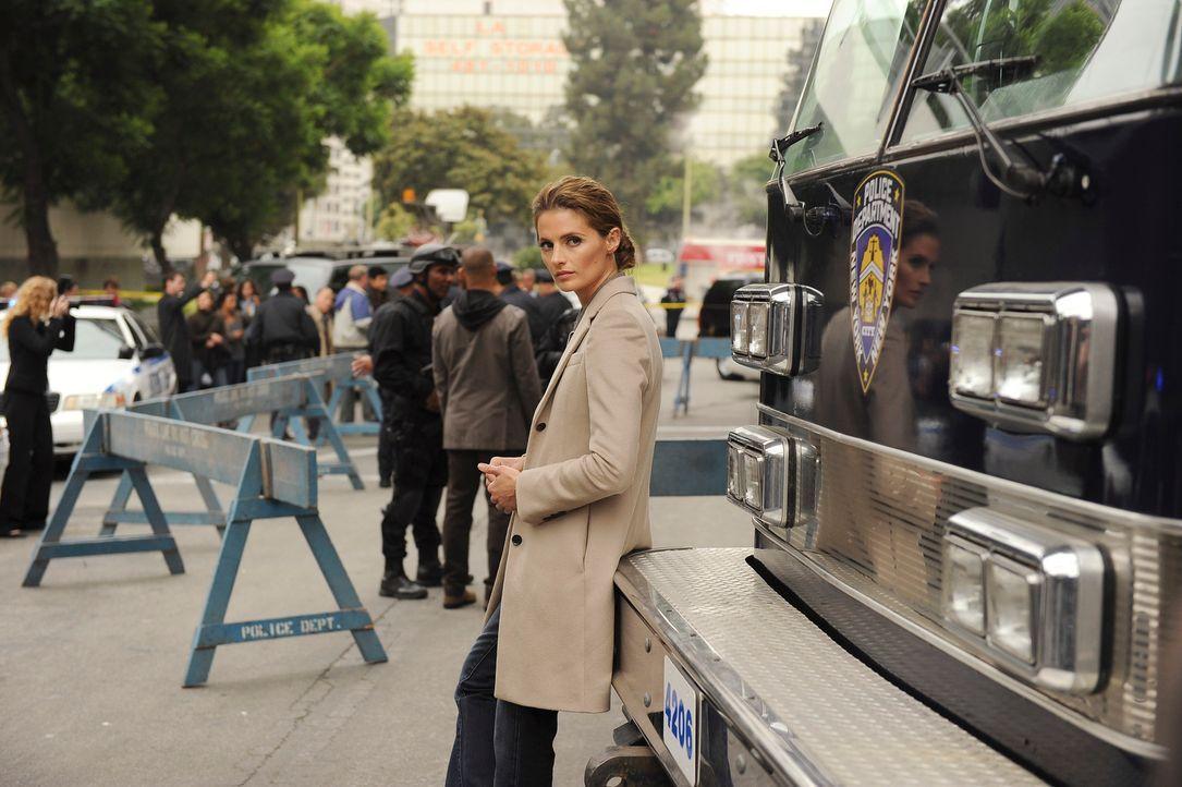 Ein Banküberfall beschäftigt Kate Beckett (Stana Katic) und ihr Team. Kann sie erfolgreich mit den Geiselnehmern verhandeln? - Bildquelle: 2011 American Broadcasting Companies, Inc. All rights reserved.