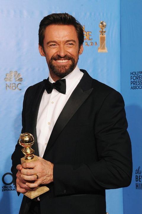 Hugh Jackmann bei den Golden Globes 2013 - Bildquelle: AFP