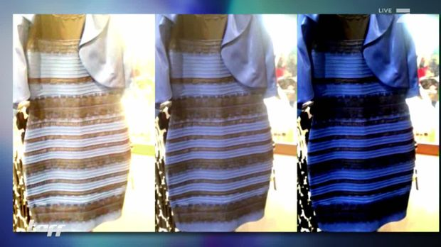 Kleid blau gold original