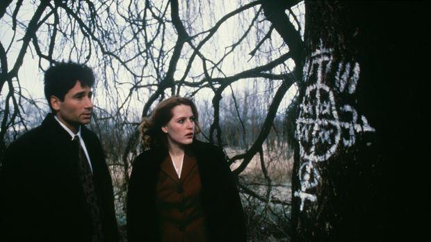 Mulder (David Duchovny, l.) und Scully (Gillian Anderson, r.) haben es bei de...