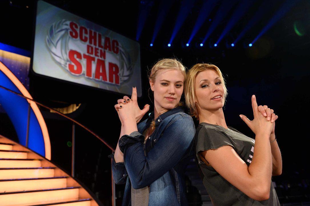 Treten gegeneinander an: Larissa Marolt (l.) und Annica Hansen (r.) ... - Bildquelle: Willi Weber ProSieben