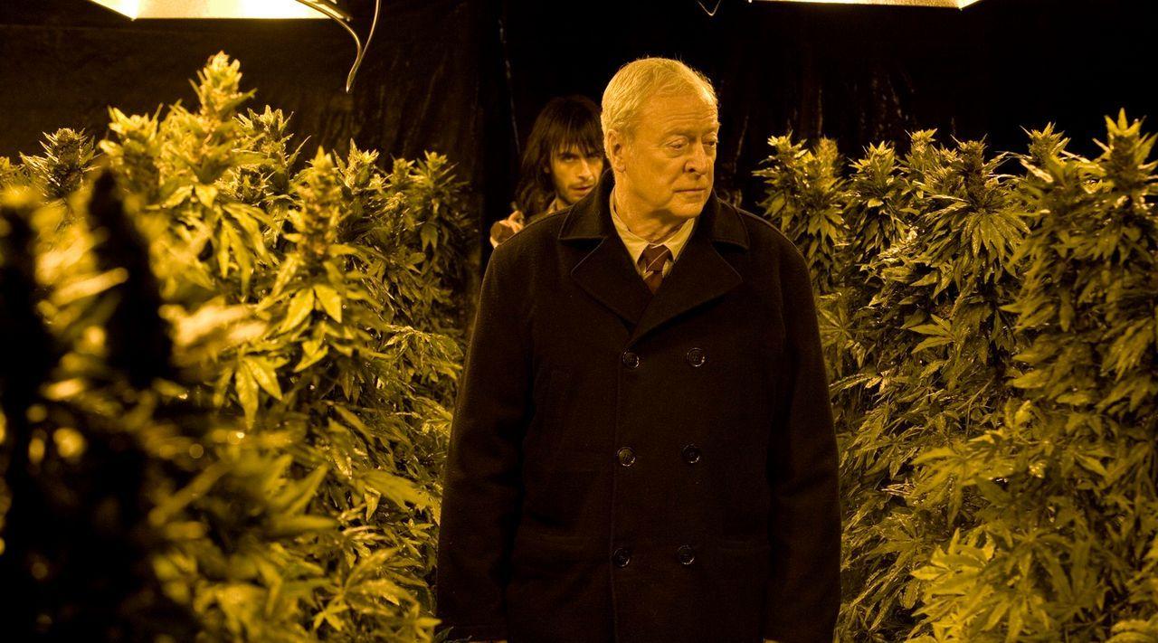 Weiß nicht, dass der alte Mann, Harry Brown (Michael Caine, vorne), ein Ex-Marine ist und deshalb über entsprechende Kampftechniken verfügt: Drogend... - Bildquelle: Ascot Elite Home Entertainment GmbH