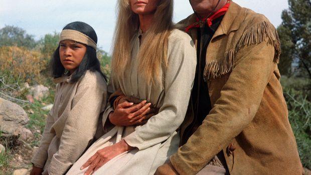 Army-Scout Sam Varner (Gregory Peck, r.) bietet der jungen Weißen Sarah (Eva...