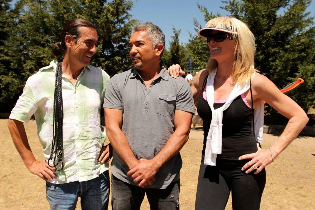 Cesar Millan mit Cheri und José - Bildquelle: © 360 Powwow, LLC / Belén Ruiz Lanzas